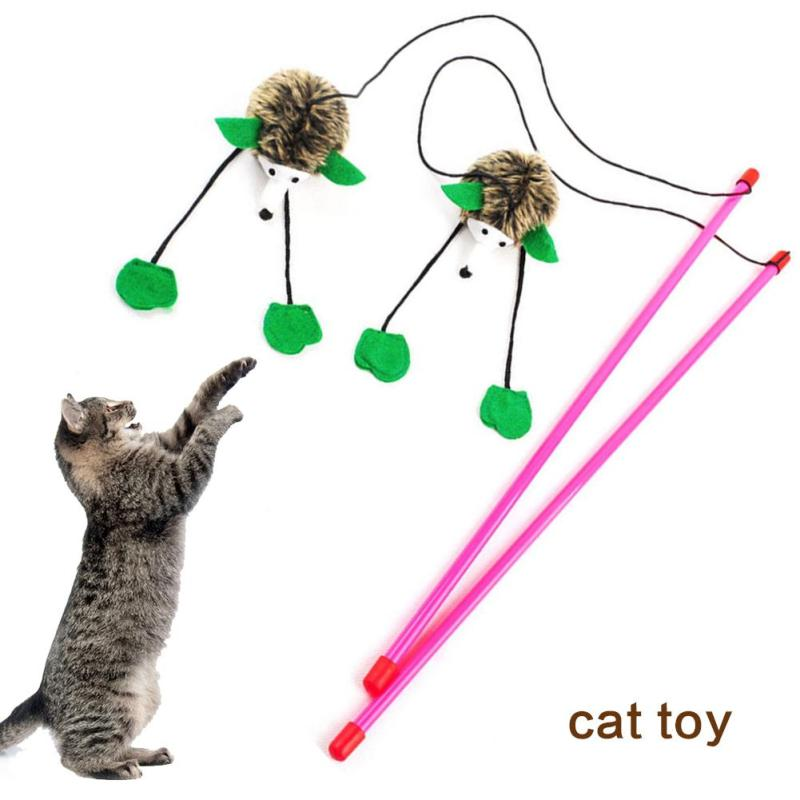 cat toy Home and living pet products Cat mouse funny toy stick Rat rod Cat sound toy h3