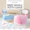 Whale Baby Potty Chair-Fun Toilet Training Seat Boys and Girls-Stable and Comfortable for your Toddler Kids Toilet Seat