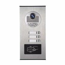 YobangSecurity металла Алюминий открытый RFID дверной звонок Камера для 3 единицы видео-домофон в квартиру телефон двери Системы