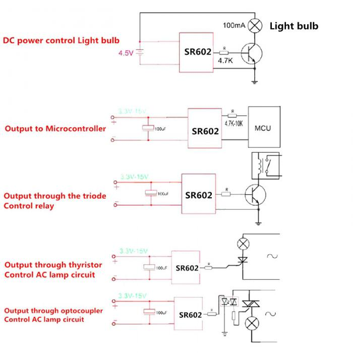 Мини SR602 датчик движения детектор модуль пироэлектрический инфракрасный Сенсорный выключатель с высокой чувствительностью ND998