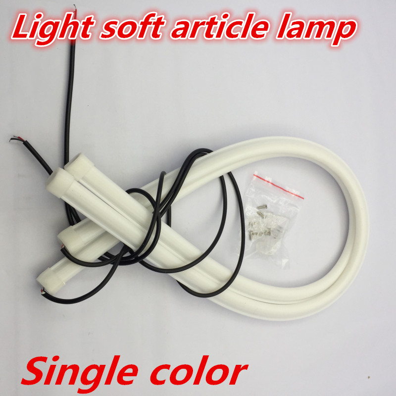 5 color 60CM LED Flexible Car Styling Daytime Running Light Soft Article Lamp Tube Tears Strip Automobiles Waterproof Lamp strip 2 5w 12x5050 smd led green light car decoration daytime running flexible strip lamp 12v