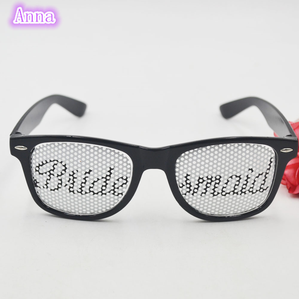 Bridesmaid Glasses Black Wedding Glasses For Bridal Bachelorette ...