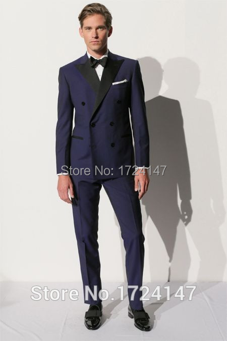 Online Buy Wholesale blue double breasted suit from China blue
