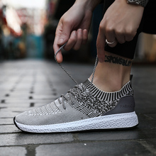 GUDERIAN Spring Summer Casual Shoes For Men Breathable Lace-Up Men Flat Sneakers Shoes Sapatos Masculino Zapatillas De Hombre