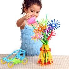 800 pcs of plastic geometric shape spelling toy blocks Creative toys childrens educational building gift