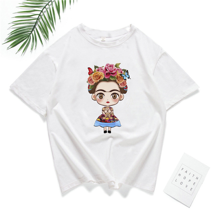 Wholesale Summer Round Neck Short Sleeve Breathable t-shirt Beauty Girl Print For men Women's Loose Casual Hip Hop Pullover Tops