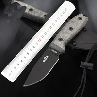 Fixed Blade Knives D2 Steel Grade 7Cr17Mov Outdoor Straight Hunting Survival Knife EDC Durable Camping Tool