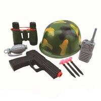 Fireman Police Engineer Helmet Fire Cap Suit Role Play Toy Kit Costume