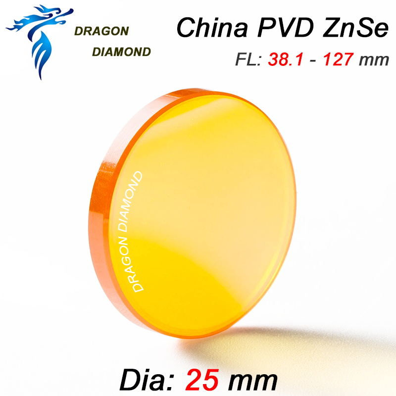 China Znse lens Dia 25mm FL 50.8mm 63.5mm 76.2mm 101.6mm 127mm high Accuracy co2 laser lens mirror supplier for laser machine china znse high quality dia 25mm fl50 8mm laser lens co2 laser engraving cutter machine mirror and lens