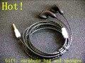 PK1 DIY prata banhado fio de fone de ouvido fio OFC 150 ohms