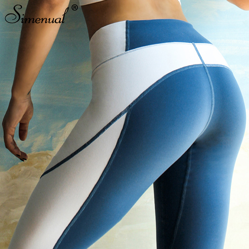 Simenual New arrival sportswear leggings for fitness women athleisure polyamide legging patchwork high waist jeggings sexy pants