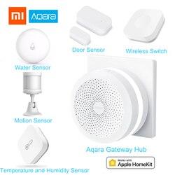 Xiaomi Aqara Smart Home Kits Gateway Hub Door Window Sensor Human Body Wireless Switch Humidity Water Sensor For Apple Home kit