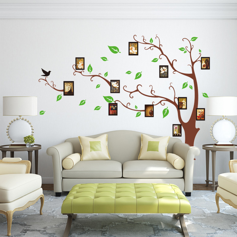 Family Tree Photo Frame Mural Wall Sticker Home Decor Room Decals Poster Living  Room TV Sofa Bedroom Decoration Mural Poster In Wall Stickers From Home ...