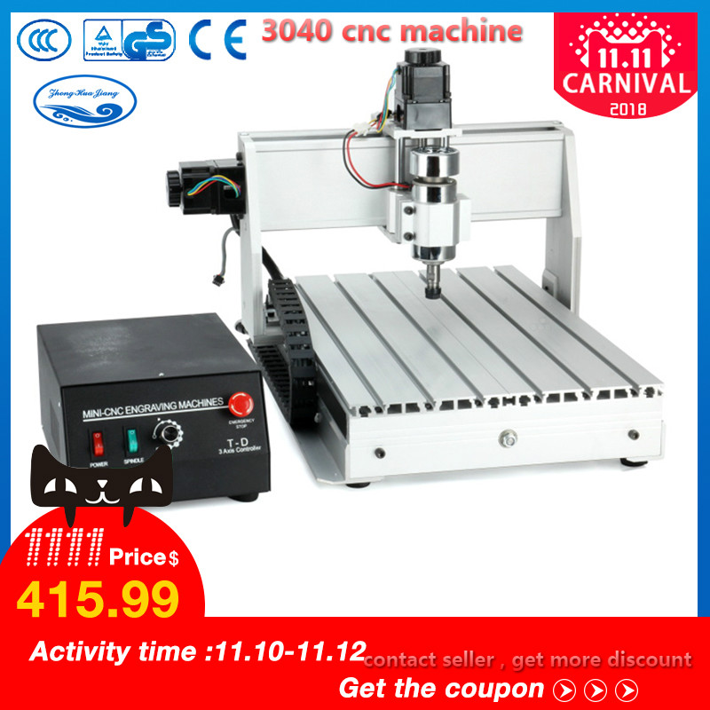 300W/800W/1500W CNC Machine 3040 T-D 3-axis CNC Router Engraver Milling Mini CNC 3040 Manufacturer cnc router mini 3040 milling machine 800w water cooling spindle