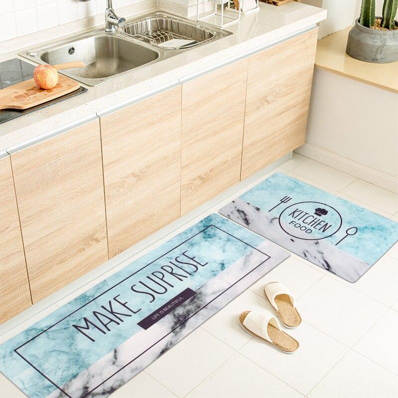 Tapis de cuisine anti-dérapant tapis de salle de bain accueil entrée/couloir paillasson imperméable tapis de cuisine tapis de balcon 45X75/45X120 CM/ensemble