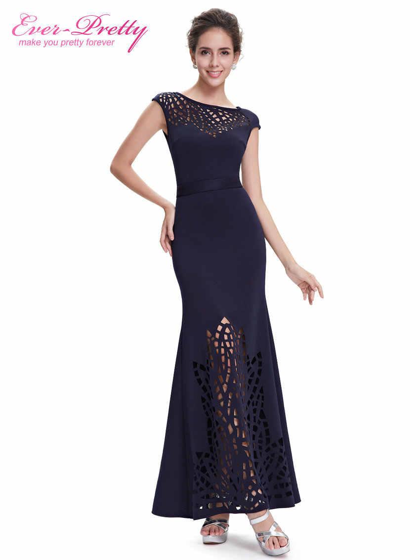 Vestito da sera Ever-Pretty EP08545NB Delle Donne Navy Blu Girocollo Robe De Soiree 2019 Vestido De festa Longo abiti da Sera abiti