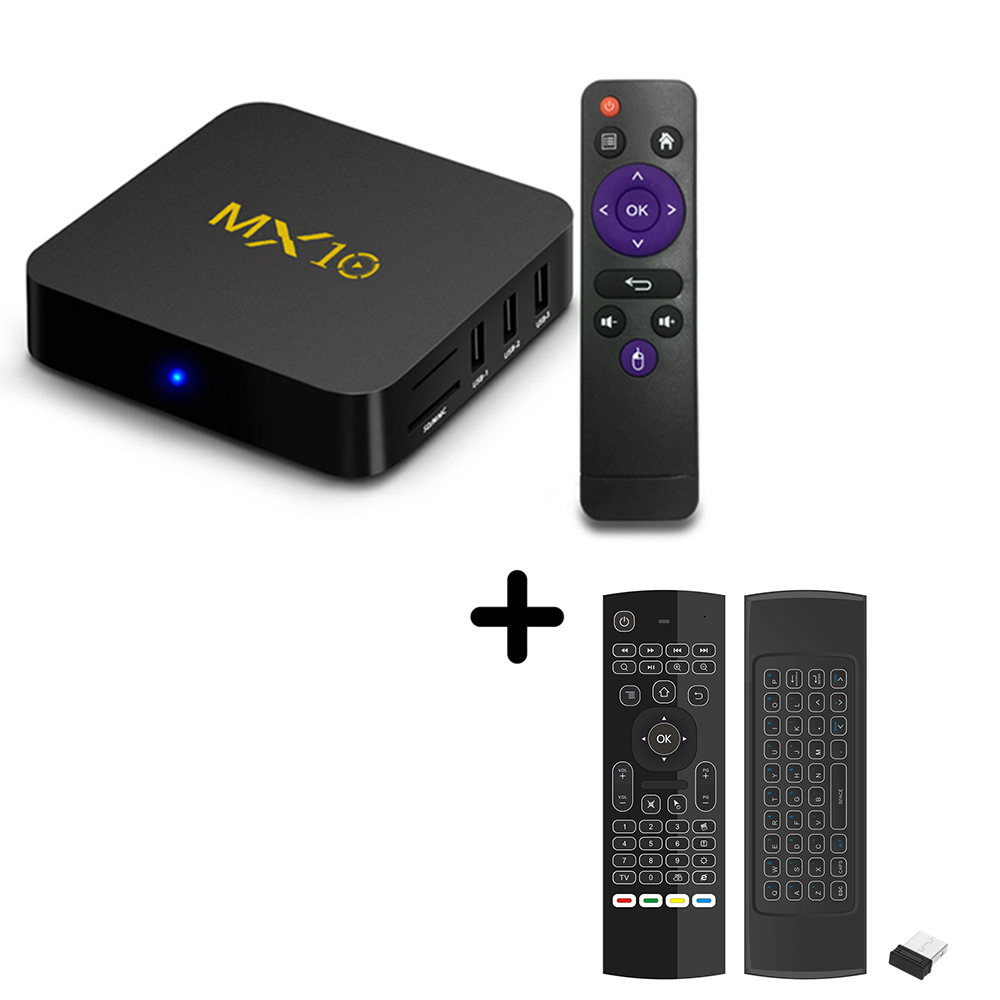 MX10 TV box Android 9 0 Smart TV Box RK3328 4K VP9 H 265 HDR10 USB3