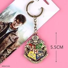 10pcs/lot Movie Harri Potter Logo Keychain necklace pendant toys gifts