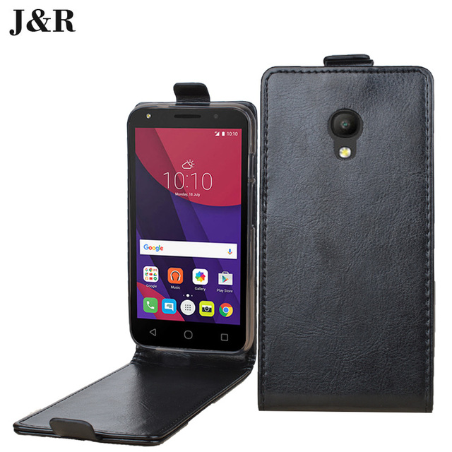wholesale dealer 59e93 e333e US $4.98 |Case For Alcatel One Touch Pixi 4 5.0 5045D Flip Leather Cover  For Alcatel Pixi 4 5045 5045X Vertical Back Cover Phone Cases-in Flip Cases  ...