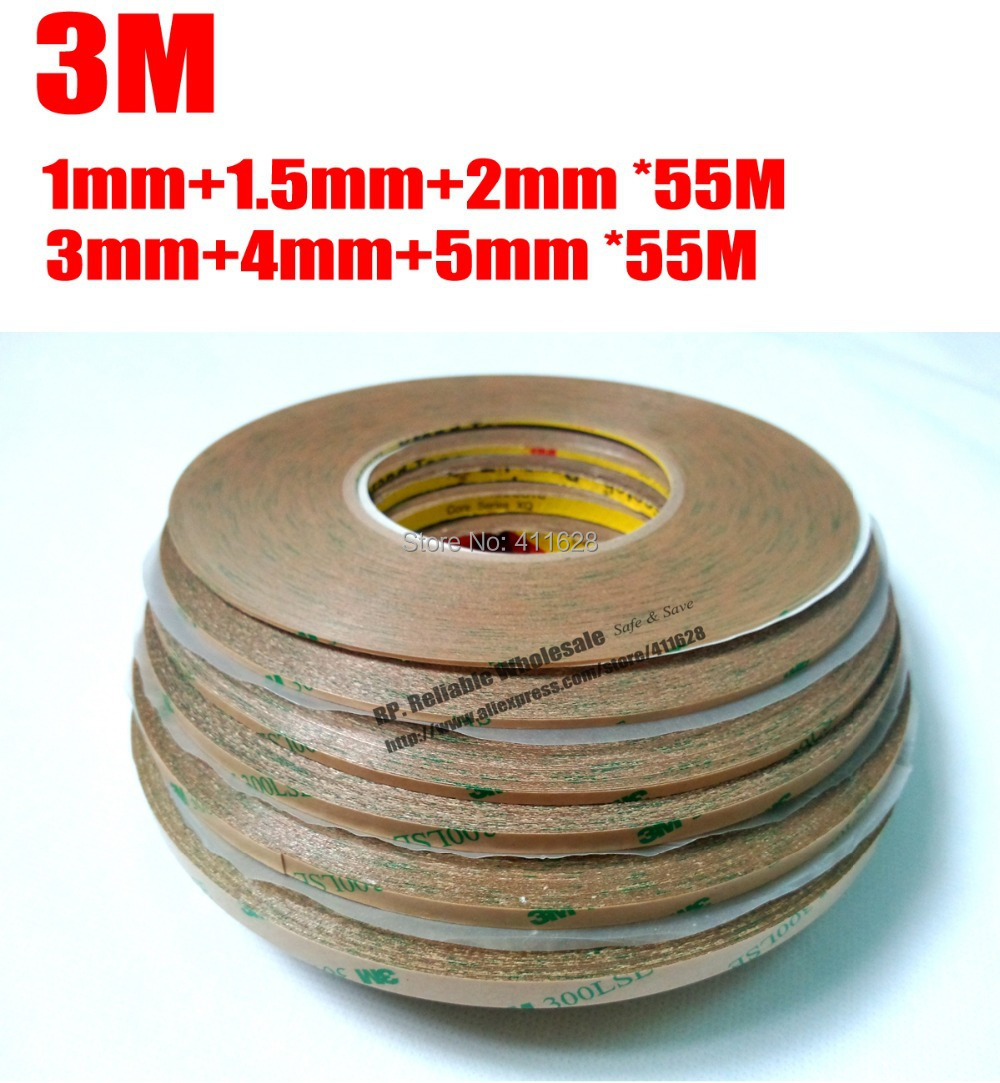 Combined 6 Rolls (1mm/1.5mm/2mm/3mm/4mm/5mm) *55M Original 300LSE Clear Strong Adhesion Sticky for iphone Samsung HTC LCD Screen strong 1 2 1 5 1 8