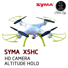 Nartor RC SYMA X5HC Drone With Camera 2MP HD Camera Headless Mode Fling-fly Action with Orange and Green LED Light
