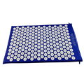 Stock cotton ABS spike acupressure mat massage cushion shakti mat before or after yoga relieve pain improve sleep free ship