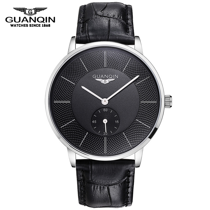 ФОТО GUANQIN Men Mechanical Watch Big Dial Luxury Brand Business Men Leather Watches Clock Wristwatches Relogio Masculino Reloj