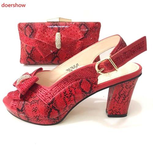 Dames Partie Ensemble Noir Africain argent Chaussures 37 Qualité 13 or Taille vert Sacs Rose Et Italiennes Pour Dernières rouge Sac Style Doershow 42 La Hm1 Haute rose 1nZIWFqqz