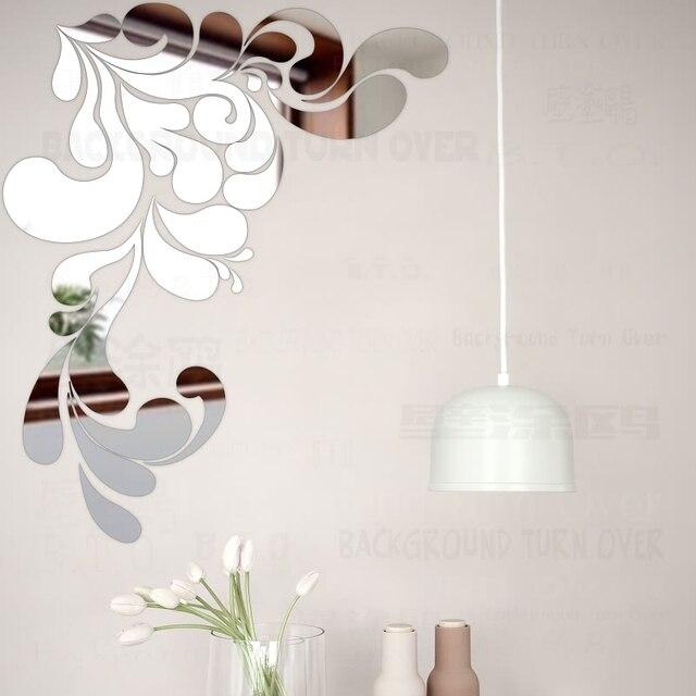 Sea Spray Style Decorative Acrylic Mirror Wall Stickers Flower ...