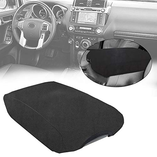 Bolaxin Black Center Console Armrest Fleece Cover Center Armrest Protector Cover Fits <font><b>Toyota</b></font> <font><b>4Runner</b></font> 2010-<font><b>2018</b></font> image