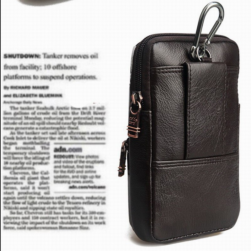 Aliexpress Hot Genuine Leather Case Bag Hook Loop Belt Pouch Holster Cover  for myPhone Hammer Energy 5 0inch Phone Free Shipping-in Phone Bags & Cases