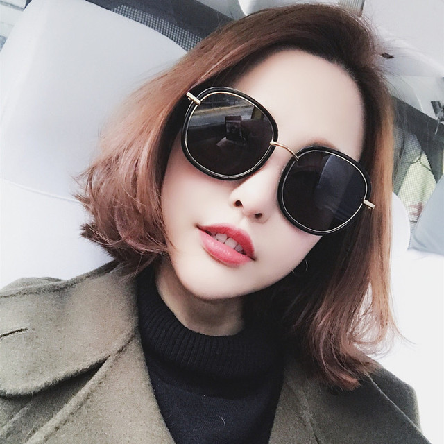 Sunglasses for Women Round Sunglasses Driving Luxury Brand Coating mirror Sun Glasses Women female Eyewear