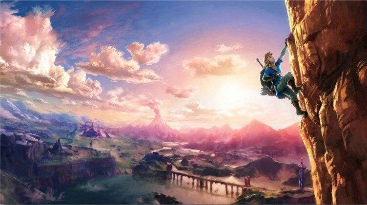 Pittura del Fumetto di diamante The Legend Of Zelda Respiro Della Natura Selvaggia Arte della parete Immagine Art Print Pittura per Soggiorno Decorazione Della Parete