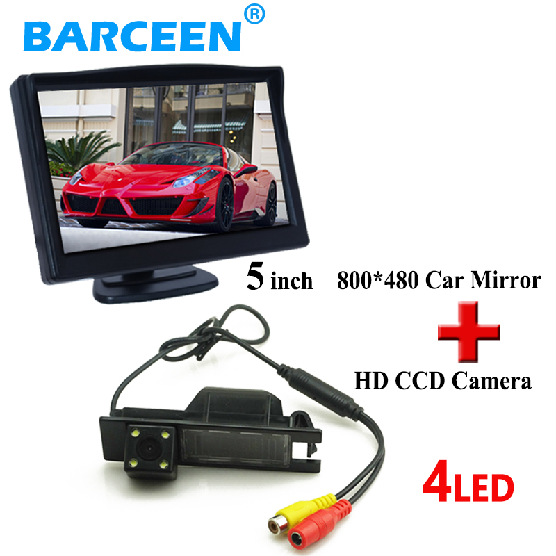 Auto car rearview monitor 5 car parking camera for Opel Astra H Corsa D Meriva A