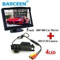 """Auto retrovisor do carro monitor de 5 """"+ câmera de estacionamento para Opel Astra H/Corsa D/Meriva A/Vectra C/Zafira B/FIAT 5"""" monitor do carro TFT"""