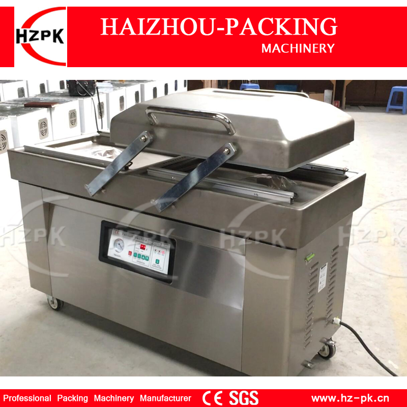 HZPK Double Chamber Vacuum Packing Machine High Efficiency Vacuum Packer Equipment Stainless Steel Chamber Vacuum Sealer DZ-500 vacuum packing machine chamber vaccum sealer