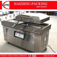 HZPK Double Chamber Vacuum Packing Machine High Efficiency Vacuum Packer Equipment Stainless Steel Chamber Vacuum Sealer DZ 500