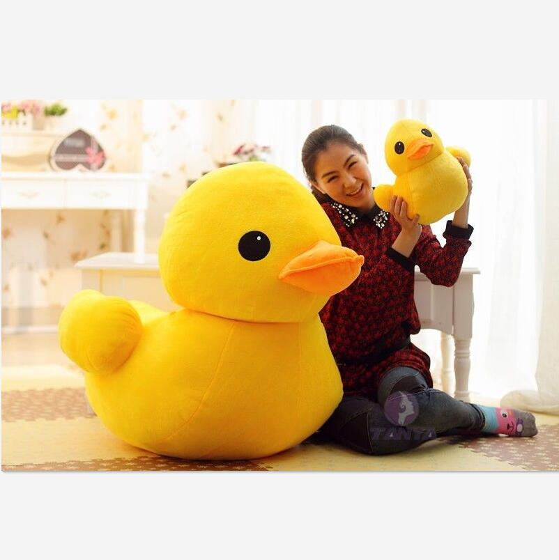 70cm(27.56inch) Giant Yellow Duck Stuffed Animal Plush Soft Toys Cute Doll Pillow Gifts for Kids Children's Gifts Juguetes new hot sale plush stuffed toys big yellow duck plush stuffed duck doll for children cotton soft free shipping