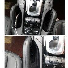 Внутренняя Автомобильная центральная консоль боковая коробка для хранения сидений держатель ручка Органайзер контейнер хорошее качество для Porsche Cayenne 2011