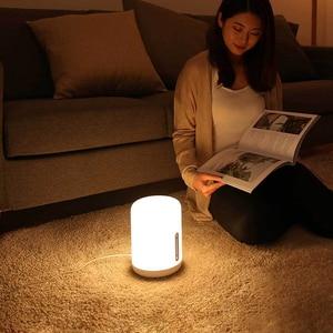 Image 5 - Xiaomi Mijia lampka nocna 2 inteligentne kolorowe światło sterowanie głosem WIFI przełącznik dotykowy Mi Home App żarówka Led dla Apple Homekit Siri