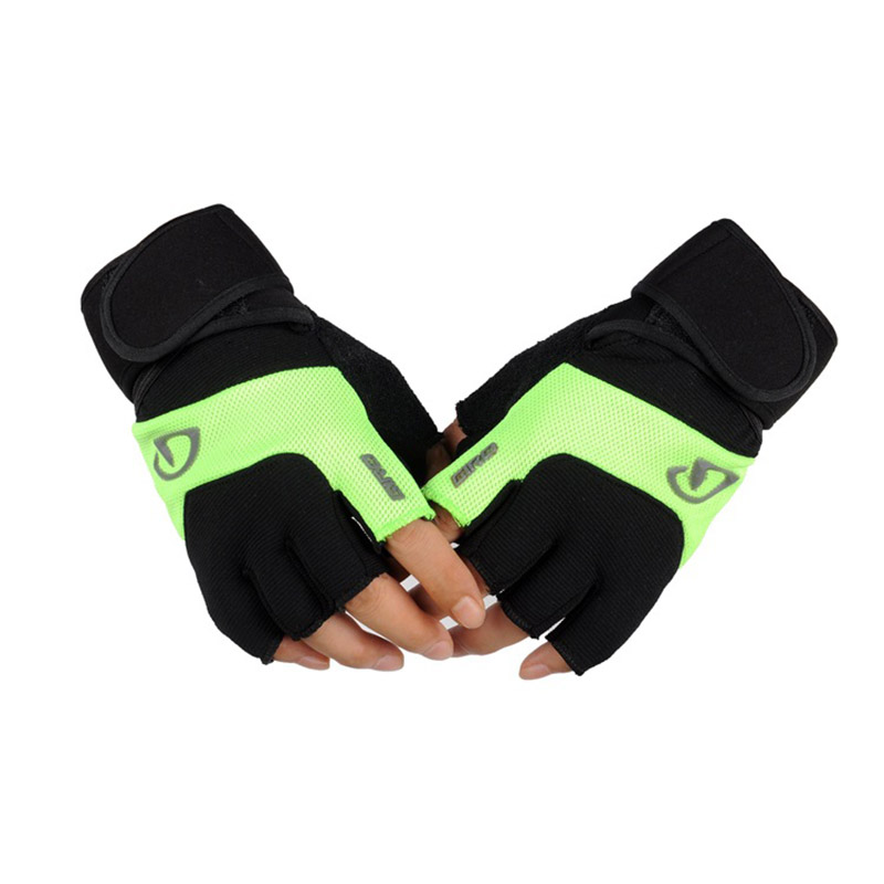 Men Women Half Finger Gym Fitness Weightlifting Gloves Outdoor Sports Cycling Non-slip Tactical Long Wrist PU Leather Gloves C39