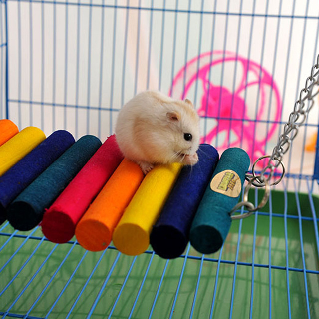 סנסציוני טבעי עץ אוגר צ 'ינצ' ילה גינאה חזיר מיטת תליית סולם גשר צעצוע NV-06