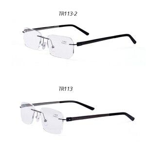 Image 4 - Guanhao Randlose Ultraleicht Legierung Lesebrille Männer Frauen Business Nase Pads Optische Gläser Rahmen Brillen Brillen 1,5