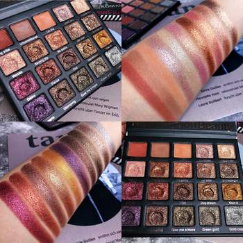 20 Colors Eyeshadow Palette  Glitter Shimmer Matte Eyeshadow Pallete Foiled Pigment Smoky Warm  EyeShadow Makeup Palette недорого
