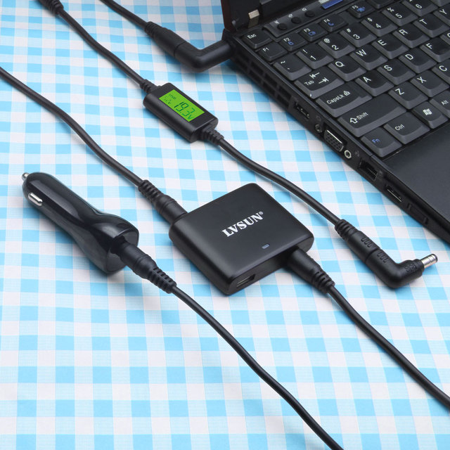 Udoli 90 W Mini Laptop Universal DC Adaptador De Carregador de Carro com porta usb 2.4a indicadores led para dell toshiba hp samsung cadernos
