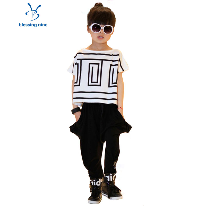 Toddler Girls Summer Clothing Set Children Teenage Outfits Girl Clothes Set Tracksuit Kids Short Sleeve Top+Pants Two-piece Suit toddler girls kids clothes sets off shoulder tops short sleeve denim pants jeans headbands 3pcs outfits set clothing
