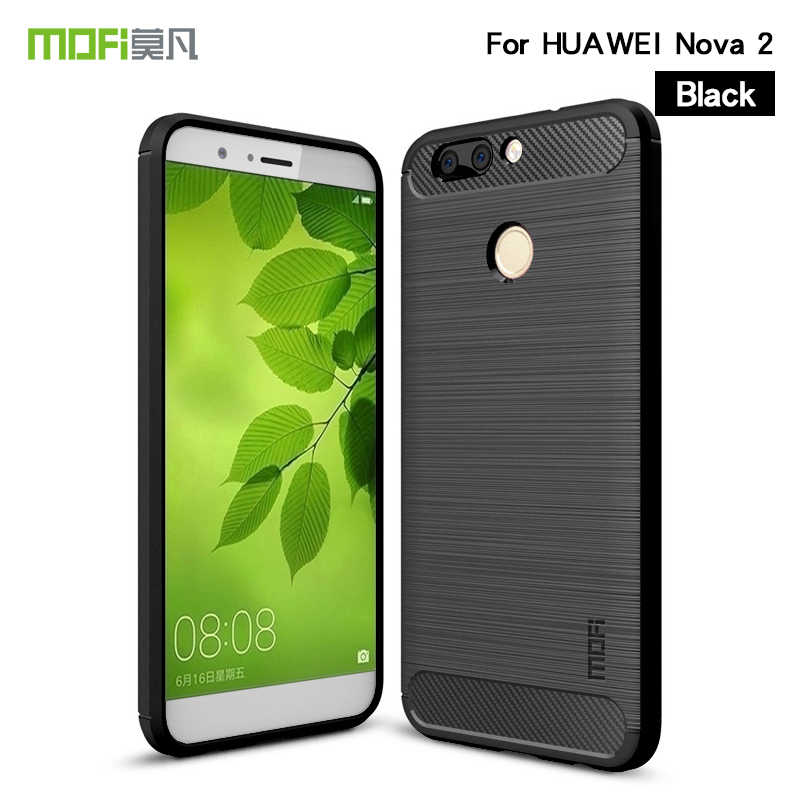 MOFi For Huawei nova 2 Case Shockproof Carbon Fiber Soft TPU Anti-Knock Cover Cases For huawei nova 2 plus Capa Coque