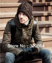 Free shipping (1pcs) 2013 NEW men and woman winter hat/men knitted hat Fashion winter warm cap multicolor wholesale
