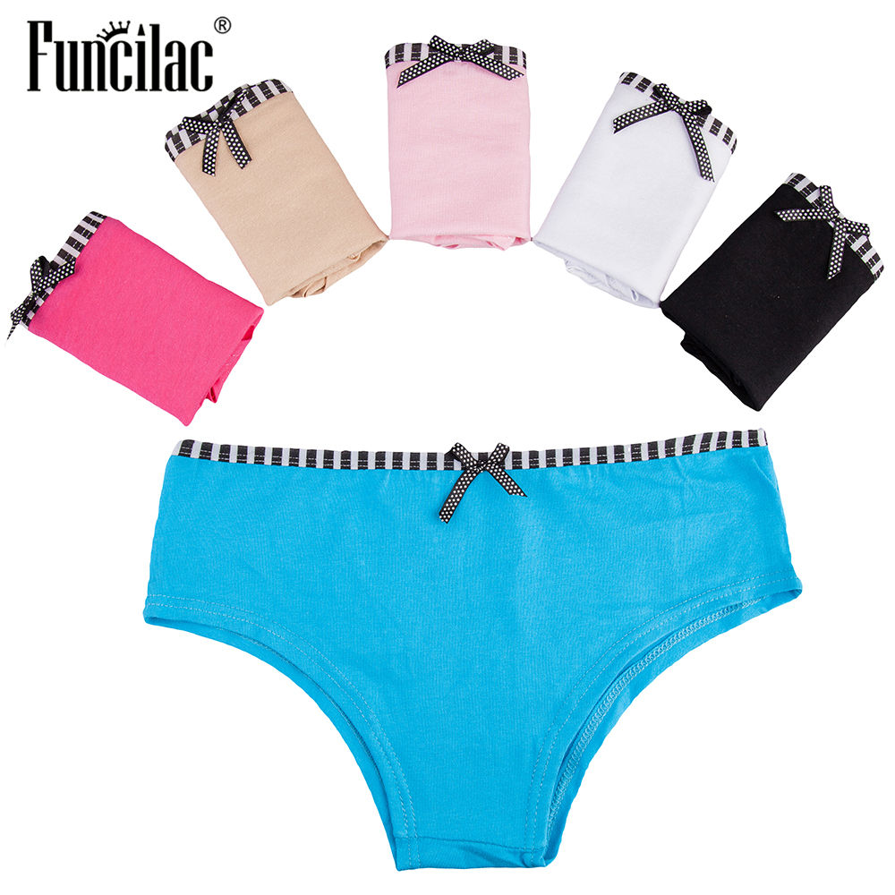 Underwear & Sleepwears Reasonable Funcilac Sexy Briefs For Women Ladies Bikini Womens Cotton Soft Panties Pink Female Underwear High Quality Lingerie 5 Pcs/lot Price Remains Stable