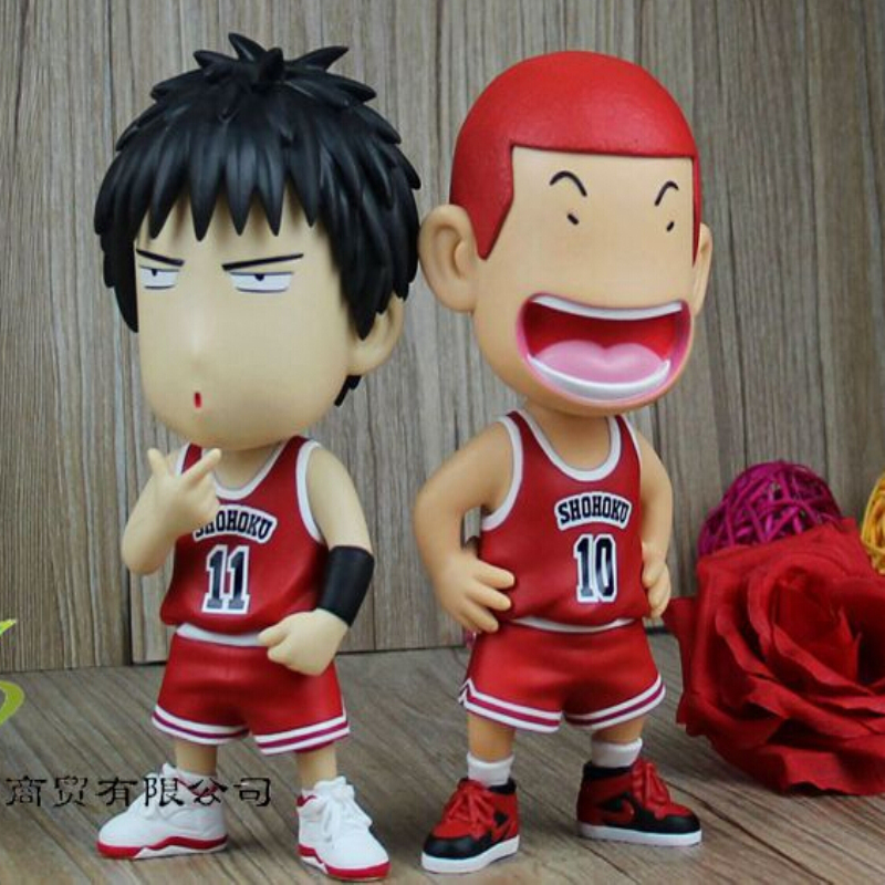 Pack In Retail Box 8 Different Style Slam Dunk Sakuragi Hanamichi Rukawa Kaede Action Figures PVC brinquedos Collection Figures anime slam dunk hanamichi sakuragi rukawa kaede action figure pvc classic collection toy doll model garage kit